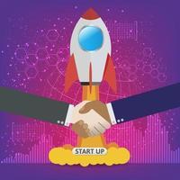 concept de démarrage d'entreprise pour page Web, bannière, présentation, médias sociaux.