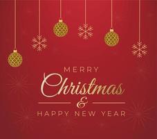 joyeux noël et bonne année carte de voeux de vacances