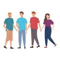 groupe de jeunes personnages avatar