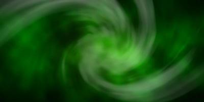 fond de vecteur vert foncé avec des nuages.