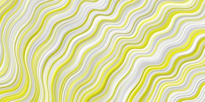 modèle vectoriel jaune clair avec des lignes ironiques.