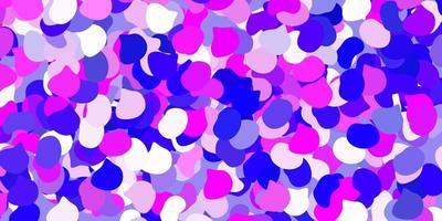 toile de fond de vecteur violet clair, rose avec des formes chaotiques.