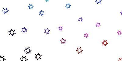 modèle vectoriel bleu clair et rouge avec des signes de grippe