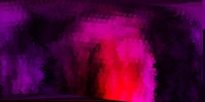 toile de fond polygonale vecteur violet foncé, rose.