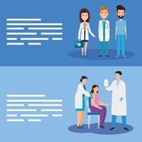 professionnels de la santé pour la bannière de la campagne contre le coronavirus