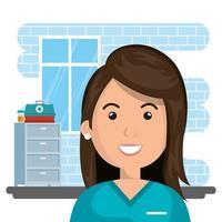 chirurgien dans une scène de salle de consultation vecteur