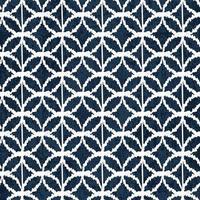 motif de teinture indigo sashiko avec broderie japonaise traditionnelle blanche vecteur