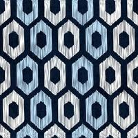 Motif de teinture indigo sans couture sashiko avec broderie japonaise blanche traditionnelle vecteur