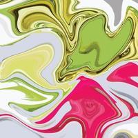 Texture de marbre liquide avec fond coloré abstrait vecteur