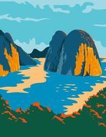 baie au vietnam affiche art