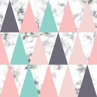 conception de texture de marbre de vecteur avec fond luxueux de triangles