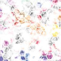 conception de texture de marbre de vecteur avec fond de lignes géométriques en nid d'abeille