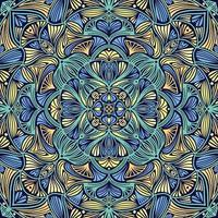 mandala ethnique floral ornemental coloré vecteur