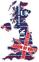 Une carte du Royaume-Uni. vecteur