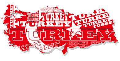 Une carte de la Turquie. vecteur