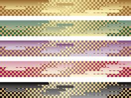 Un ensemble d'un motif traditionnel japonais sans couture en cinq couleurs.