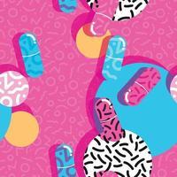 pilules et capsules pop modèle sans couture vecteur