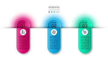 étapes infographiques de conception de capsule vecteur