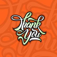 Freehand Merci typographie vecteur libre