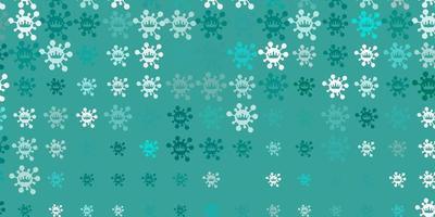 fond de vecteur vert clair avec symboles covid-19.