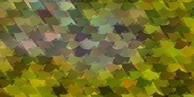 modèle vectoriel jaune clair dans un style carré.