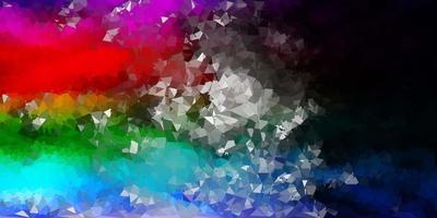Disposition de triangle poly vecteur multicolore sombre.