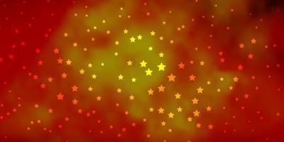 texture vecteur orange foncé avec de belles étoiles.