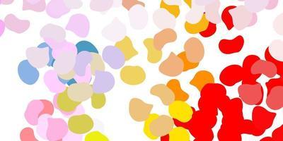 texture de vecteur multicolore léger avec des formes de memphis