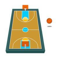 Illustration d'un terrain de basket vecteur