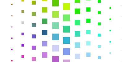 toile de fond de vecteur multicolore clair avec des rectangles.