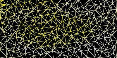 toile de fond polygonale vecteur jaune clair.
