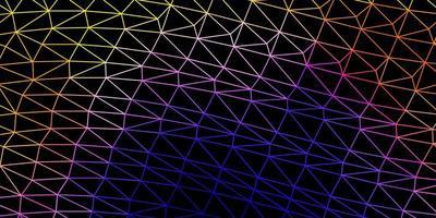 modèle de triangle abstrait vecteur bleu foncé, rouge.