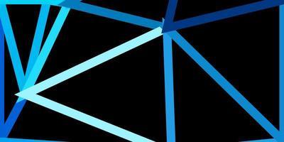 disposition de triangle poly vecteur bleu clair.