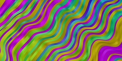 disposition de vecteur multicolore clair avec des courbes.