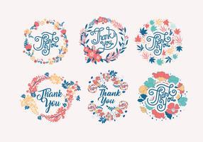 Merci typographie vol 3 vecteur