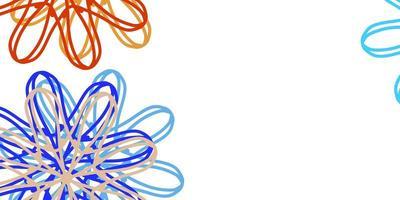 disposition naturelle de vecteur bleu clair, jaune avec des fleurs.