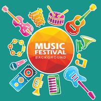Fond de festival de musique vecteur