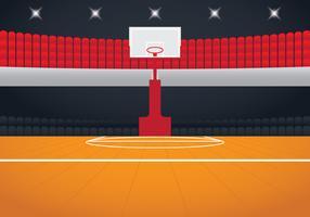 Arène de basket réaliste vecteur