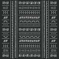 motif ethnique tribal noir et blanc avec des éléments géométriques