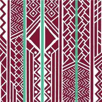 motif bohème coloré ethnique tribal avec éléments géométriques, tissu de boue africaine vecteur