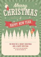 carte de joyeux Noël sur fond d'hiver, conception d'affiche