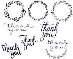 Vecteurs de typographie Merci vecteur