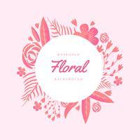 Rosegold Floral fond vecteur