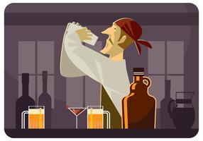 Vecteur de barman