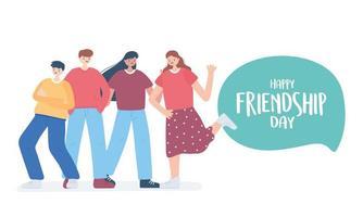 bonne journée de l'amitié, groupe d'amis diversifié de personnes célébration d'un événement spécial