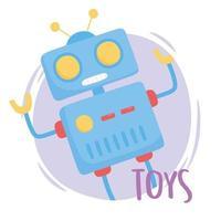 objet de jouets pour les petits enfants à jouer au robot de dessin animé vecteur