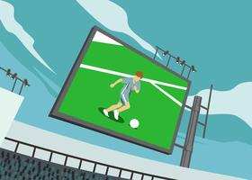 Illustration de football Jumbotron vecteur
