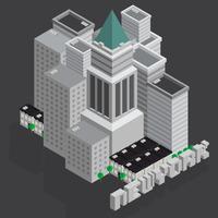 Le bâtiment de New York City vecteur