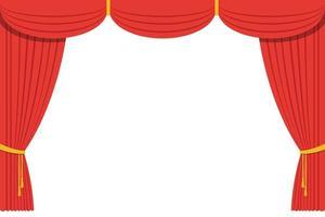 illustration de conception de vecteur de rideau de théâtre
