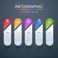 modèle d'entreprise et d'affaires infographique moderne